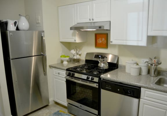 Kitchen at Weymouth Commons Apartments