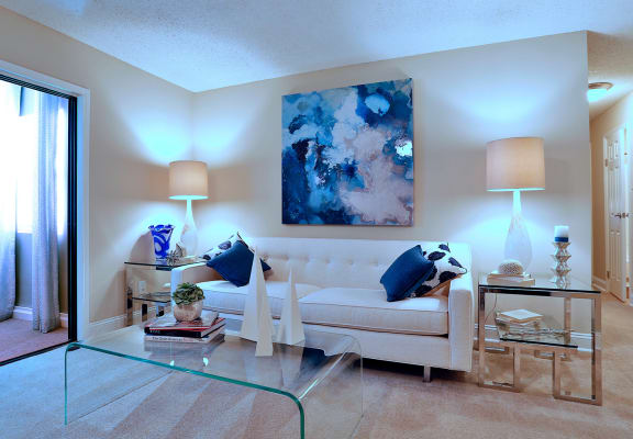 Living Room With Comfortable Sofa at Sterling Bluff Apartments, Savannah, 31406