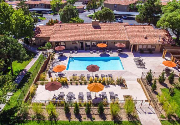 Aerial Photo of Del Rio Apartment Homes in Albuquerque