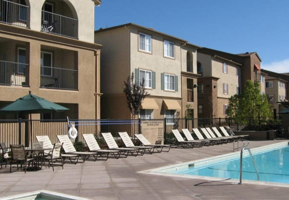 Poolside at Muirlands at Windemere Apartments in San Ramon, CA