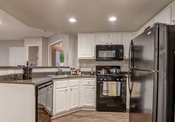 Kitchen view Apartments in Corona CA -Brookwood Villas Apartments