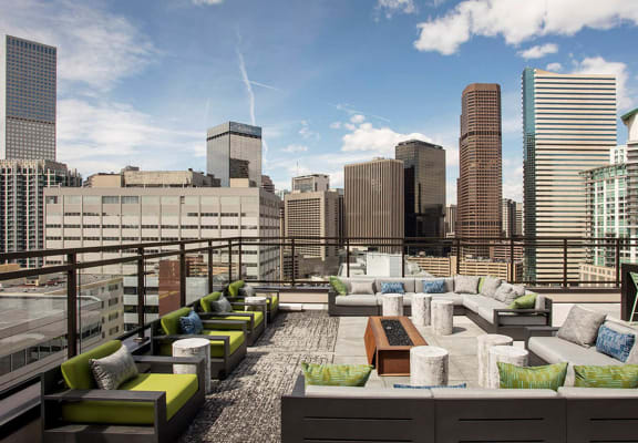 Rooftop Terrace And Gazebo at SOVA Apartments, Denver, 80203