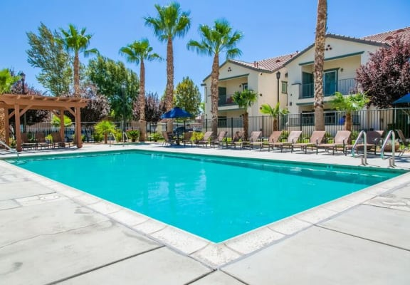Community Pool At Riverton of the High Desert Apartments in Victorville, CA