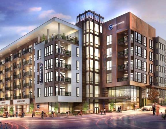 Exterior View of Property at Link Apartments Innovation Quarter, Winston-Salem, NC