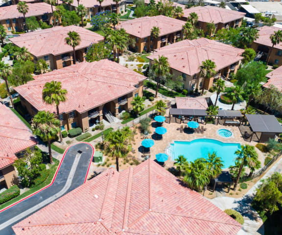 Aerial View Of Community at Medici Apartment Homes, Bermuda Dunes, 92203