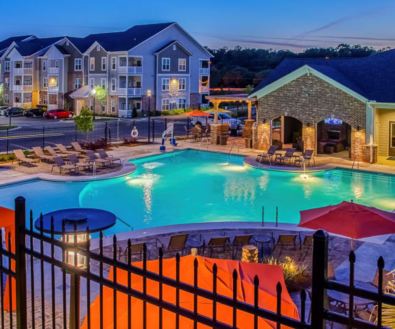 Large Luxury Pool at The Waverly Apartment Homes, Burleson, TX