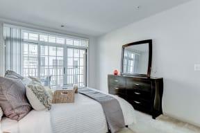 Beautiful Bright Bedroom With Wide Windows at Garfield Park, Arlington, VA