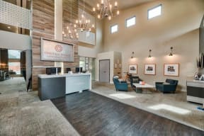 Relaxing Resident Clubhouse at Heritage Pointe Apartments in Gilbert, AZ