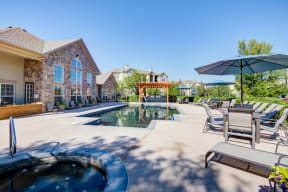 Pool for residents of alvista harmony apartments