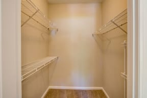 Walk in closet inside of apartment unit in fort collins