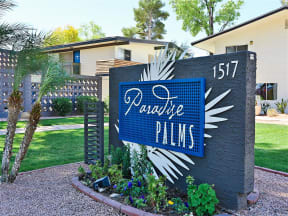 Grand Entrance Sign at Paradise Palms, Phoenix, 85014