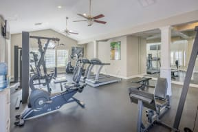 Fitness Center With Modern Equipment at Southpoint Crossing, North Carolina