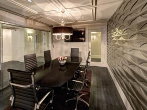 Conference Room With TV at LaVie Southpark, Charlotte, NC, 28209