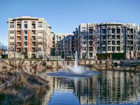 Lake With Fountain at LaVie Southpark, Charlotte, NC, 28209