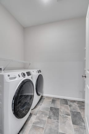 Walk-In Closet With Full-Sized Washer & Dryer