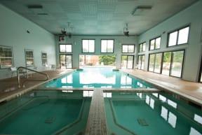 Expansive Indoor Outdoor Pool