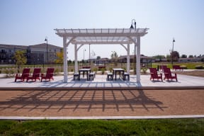 Outdoor Pergola Next to the Bocce Court