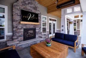 Outdoor Lounge with Overhead Space Heaters