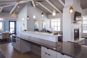 Expansive Clubroom Kitchen Island