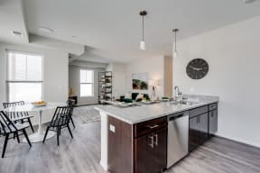 Open Concept Kitchen With Attached Dining Area
