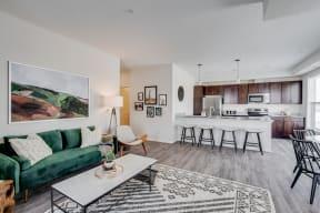 Open Concept Living Room & Kitchen