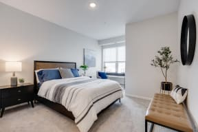 Spacious Bedroom Featuring Nook With Large Double Windows