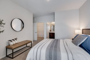 Spacious Bedroom With Attached Bathroom & Walk-In Closet