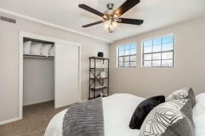 Bedroom with Sliding Closet Doors