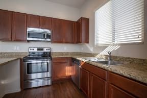 Kitchen at Casitas at San Marcos in Chandler AZ Nov 2020