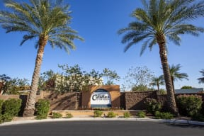 Monument Sign at Casitas at San Marcos in Chandler AZ Nov 2020
