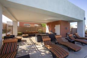 Outdoor Lounge area at Casitas at San Marcos in Chandler AZ Nov 2020