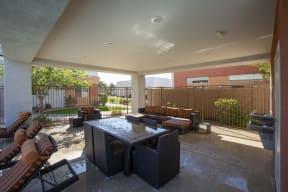 Outdoor Seating at Casitas at San Marcos in Chandler AZ Nov 2020