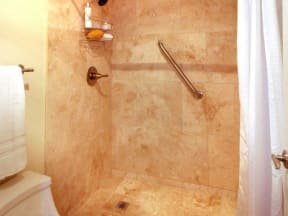 Shower at SunVilla Resort Apartments in Mesa, AZ