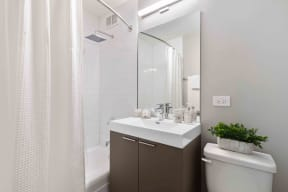 Upgrade bathroom with tub shower