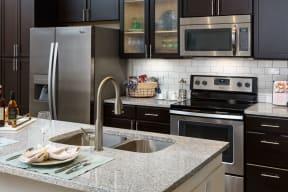 Double Sinks and granite countertops