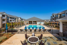 Overview of Pool & Firepit