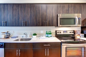 Stainless Steel Appliances at Canvas Apartments