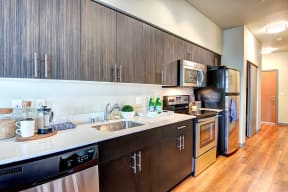 Kitchen at Canvas Apartments in Seattle
