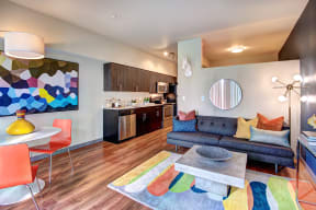 Spacious Living Room at Canvas Apartments