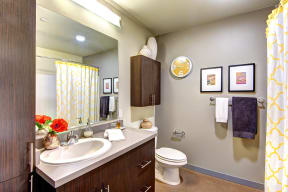 Bathroom at Canvas Apartments in Seattle