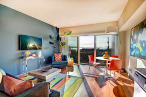Living Room at Canvas Apartments in Seattle