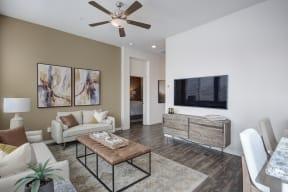 Living Room With Television at Avilla Lago, Arizona