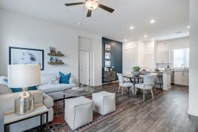 Living Room With Dining Area View at Avilla Enclave, Mesa, AZ