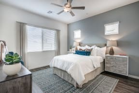 Bedroom With Expansive Windows at Avilla Enclave, Mesa, AZ, 85212