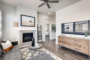 Living Room With Television at Avilla Buffalo Run, Colorado