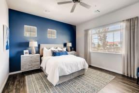 Bedroom With Expansive Windows at Avilla Buffalo Run, Commerce City, 80022