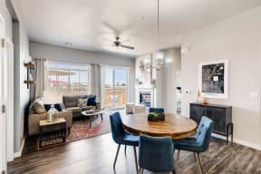 Dining Room & Living Room at Avilla Buffalo Run, Commerce City, CO