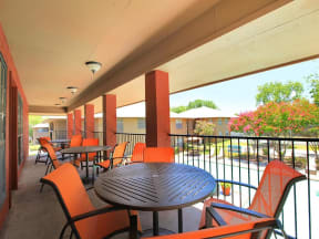 clubhouse outdoor seating granite at tuscany hills