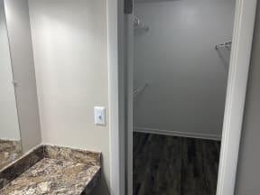 walk in closet in all units at Avisa Lakes Apartments Orlando Florida
