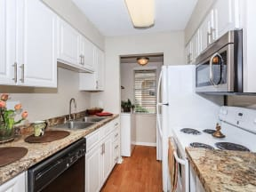 pendelton park apartments orlando model unit B kitchen